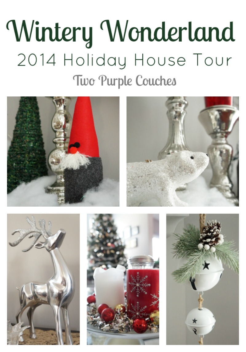 Wintery Wonderland: our 2014 holiday house tour via www.twopurplecouches.com