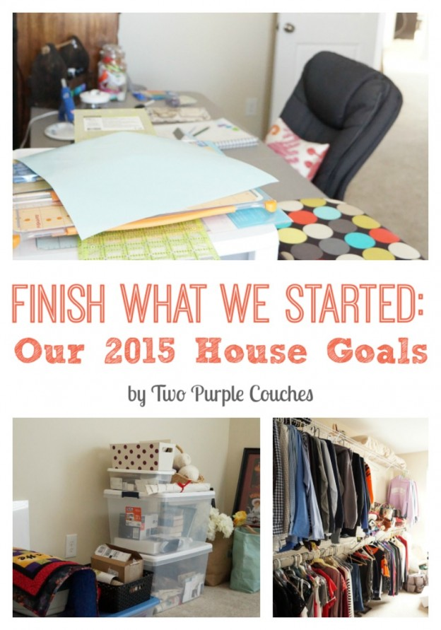 Our 2015 House Goals: to finish what we started in 2014! via www.twopurplecouches.com