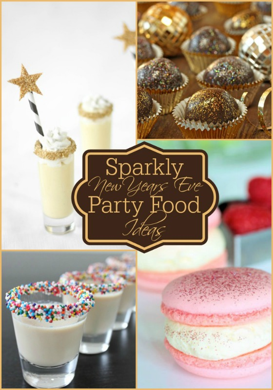 Creative Spark Feature: Sparkly New Year's Eve party food from Dreaming of Leaving