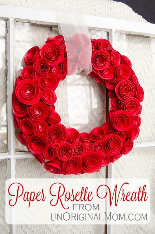 Creative Spark Link Party Feature: DIY Paper Rose Wreath
