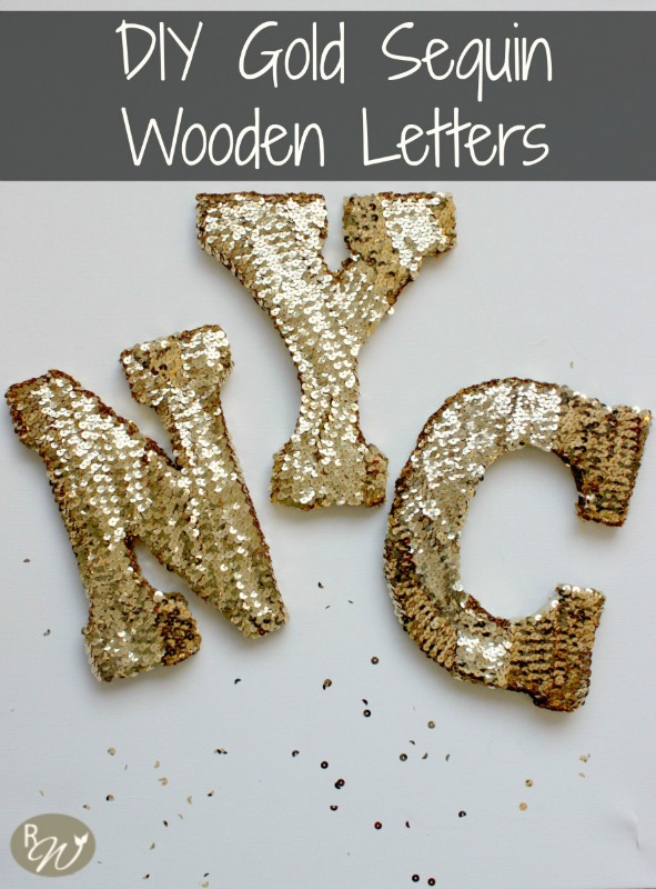 Creative Spark Feature: Gold Sequin Letters