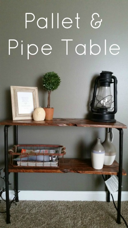 Creative Spark Link Party Feature: Pallet and Pipe Table