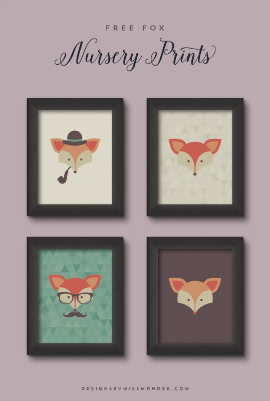 Creative Spark Most Clicked: Fox Nursery Prints from Designs by Miss Mandee