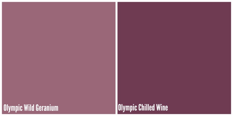 shades of purples by Olympic Paints via www.twopurplecouches.com