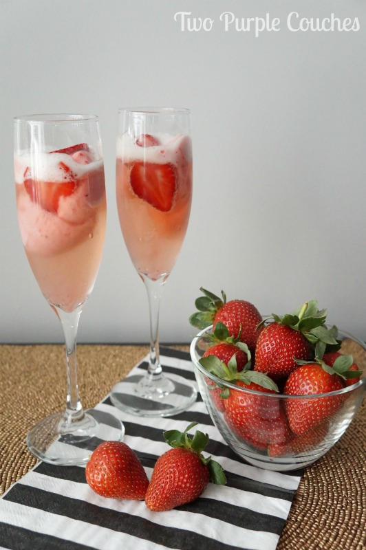Prosecco and Strawberry Cocktails