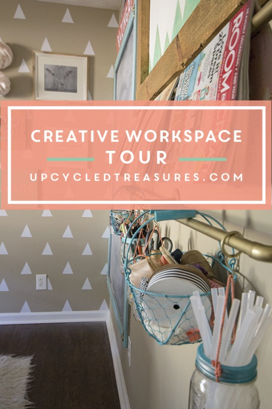 Creative Spark Feature: Creative Workspace Tour from Upcycled Treasures