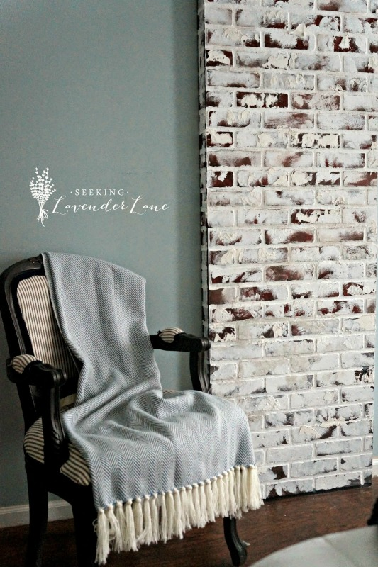 Creative Spark Feature: Faux Brick Chimney DIY from Seeking Lavender Lane