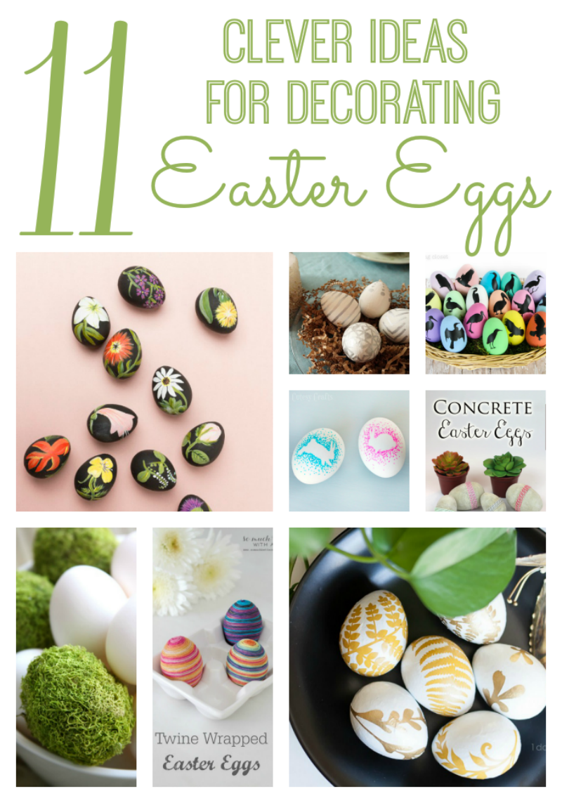 11 DIY Easter Egg Ideas via www.twopurplecouches.com