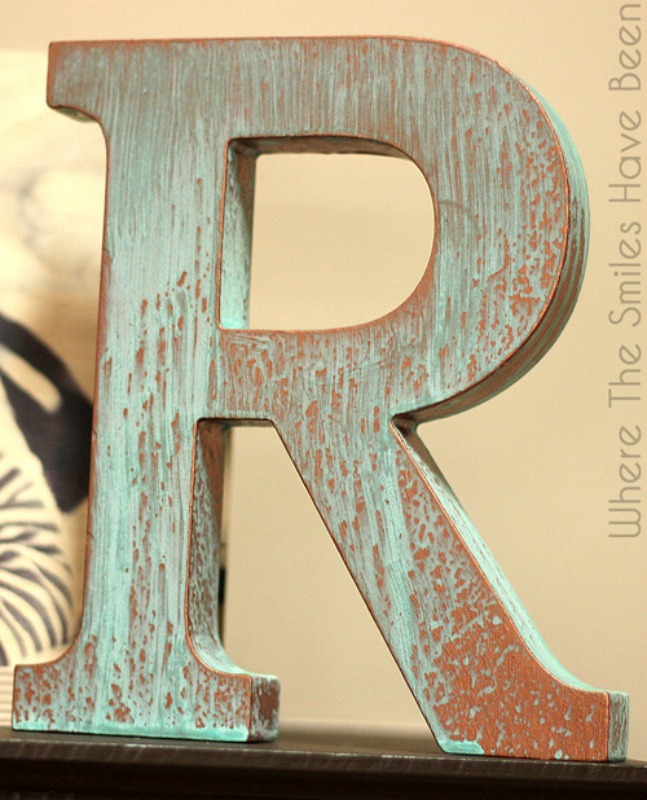 Creative Spark Feature: DIY Faux Copper Letter from Where the Smiles Have Been