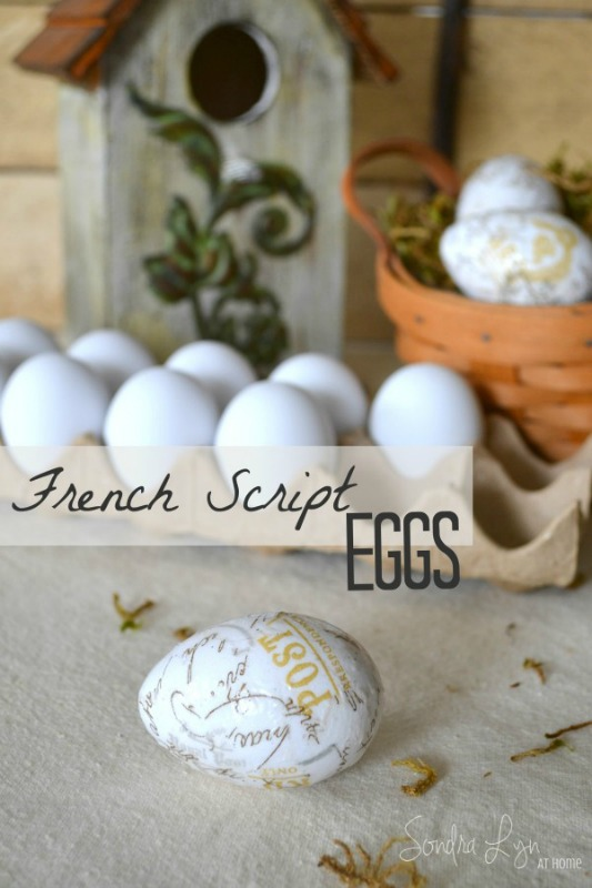 French Script Eggs from Sondra Lyn At Home
