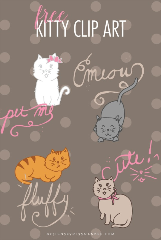 Creative Spark Most Clicked: Kitty Clip Art from Designs by Miss Mandee