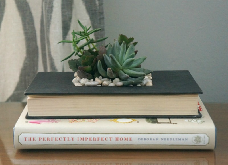 DIY Book Planter from Year of Serendipity