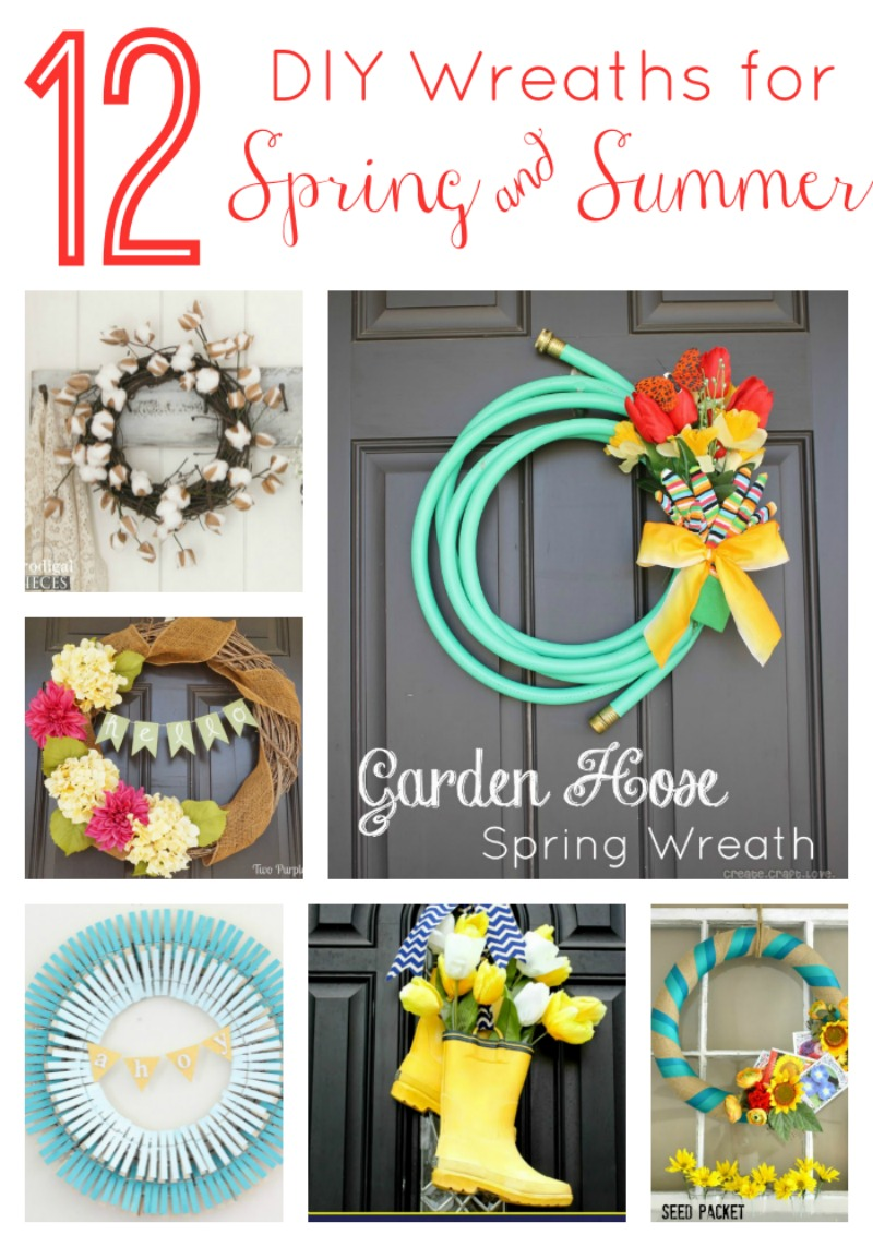 12 DIY Wreaths For Spring And Summer Via Www.twopurplecouches.com