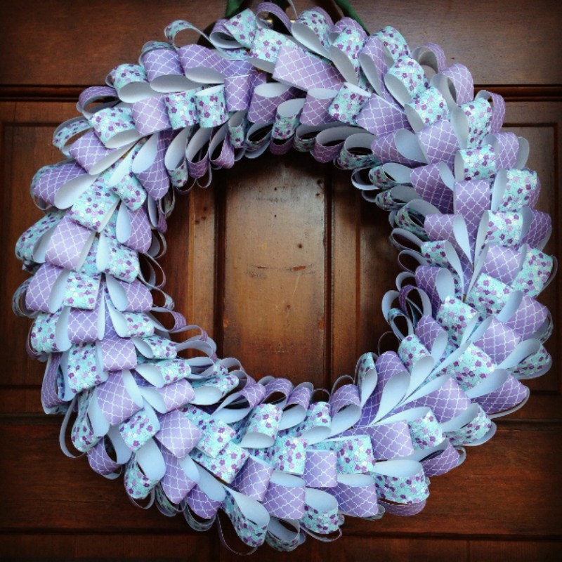 Mother's Day Paper Loop Wreath from Weekend Craft