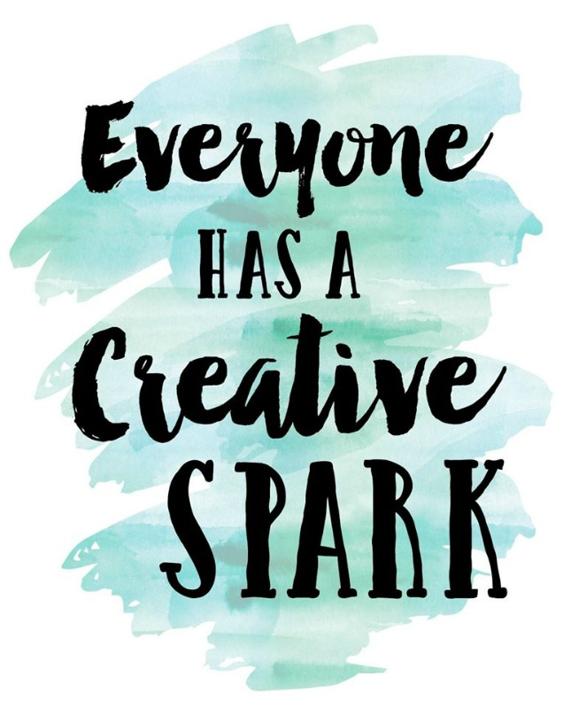 Free Printable: Everyone has a Creative Spark