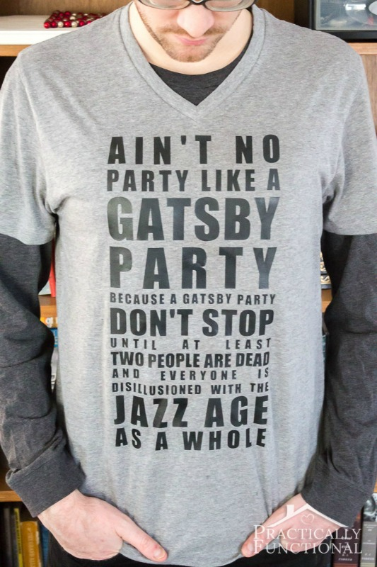 """Ain't No Party"" Gatsby Tee from Practically Functional"
