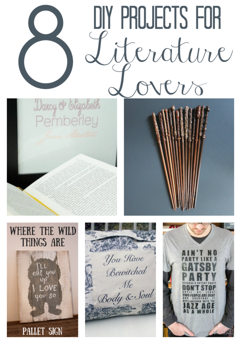 DIY Projects for Literature Lovers via www.twopurplecouches.com