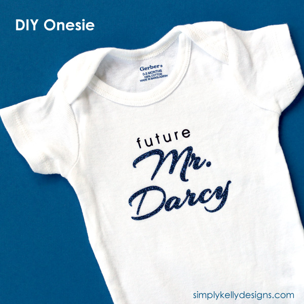Future Mr. Darcy onesie from Simply Kelly Designs