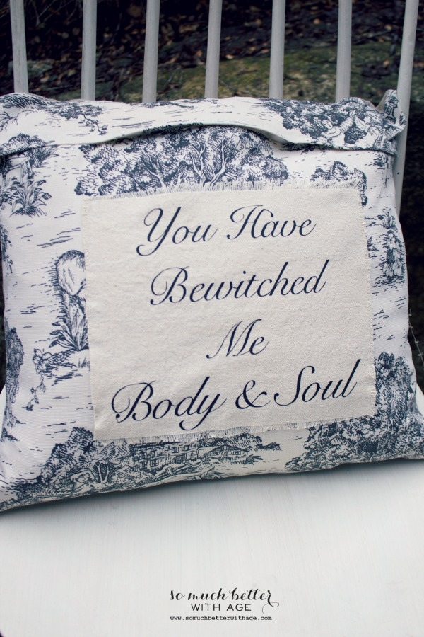 """You Have Bewitched Me, Body & Soul"" pillow cover from So Much Better With Age"