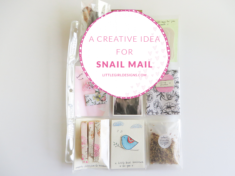 Creative Spark Feature: Creative Ideas for Snail Mail from Little Girl Designs