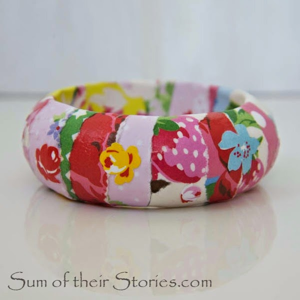 Creative Spark Feature: DIY Floral Bangle from Sum of Their Stories