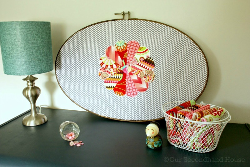 Creative Spark Link Party Feature: Upcycled Embroidery Hoop Art from Our Secondhand House