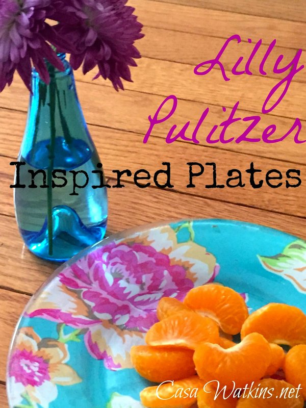 Creative Spark Feature: Lily Pulitzer Inspired Plates from Casa Watkins