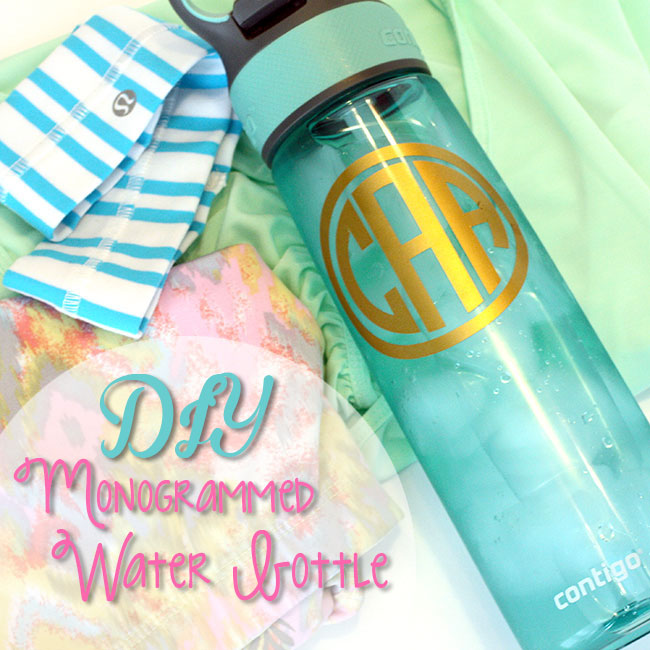 Creative Spark Feature: Monogram Water Bottle from Curly Crafty Mom