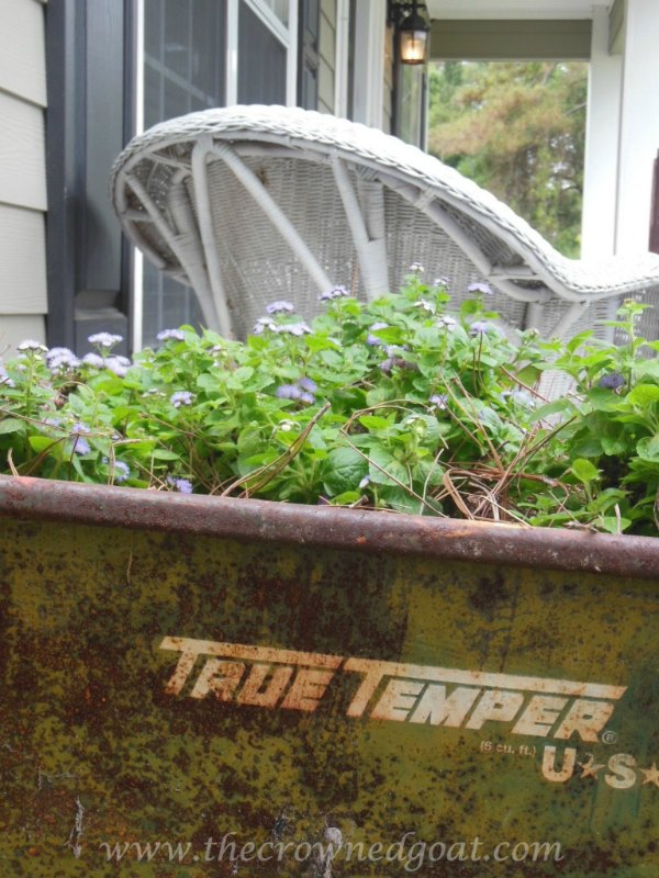 Creative Spark Feature: Wheelbarrow Container Garden from The Crowned Goat