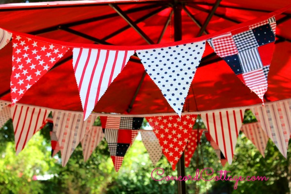 Patriotic Fabric Banner from Concord Cottage