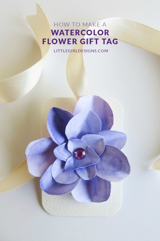 Creative Spark Feature: Watercolor Flower Gift Tags