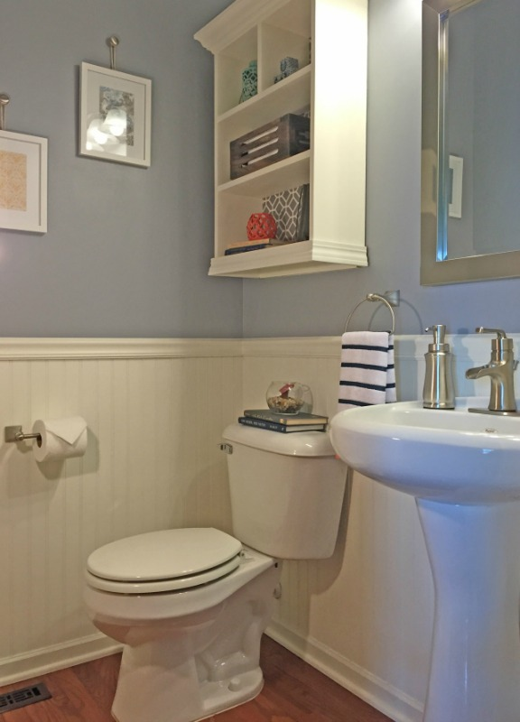 Creative Spark Link Party Feature - Beautiful Bathroom Makeover from The Organized Life
