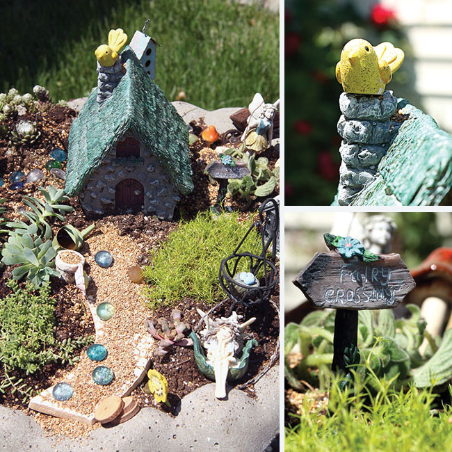 Creative Spark Link Party Feature - Fairy Garden from Curly Crafty Mom