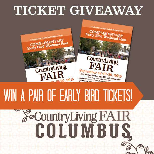 country living fair columbus ohio ticket giveaway two