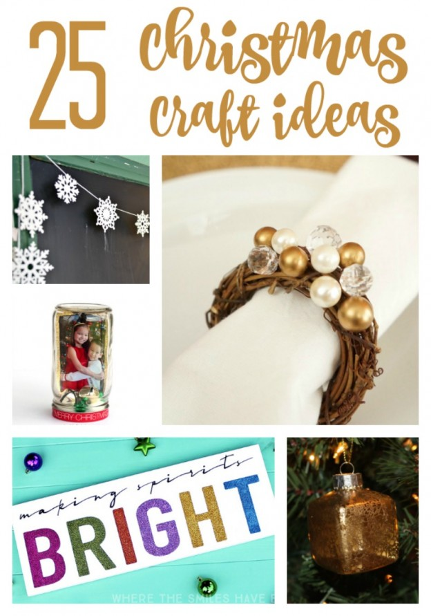 25 Simple and Do-able Christmas Craft Ideas you can make (and gift) this holiday season!