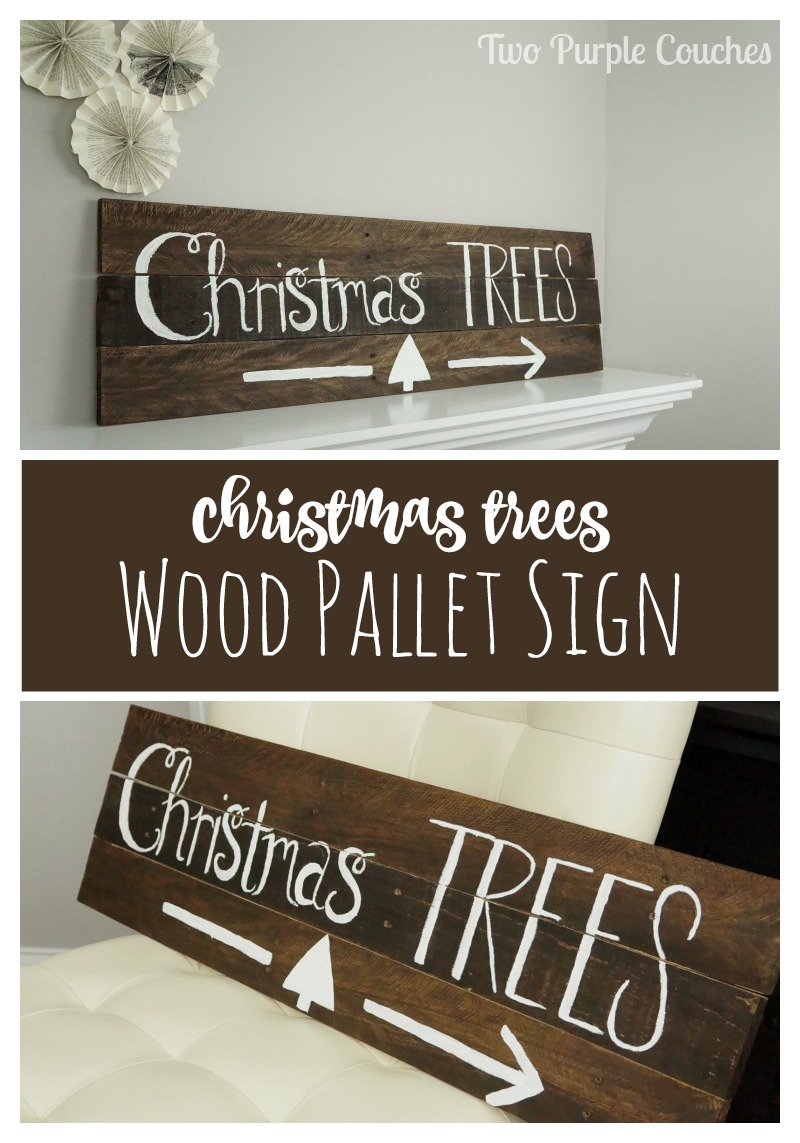 Deck your halls this holiday with this adorable DIY Christmas Trees pallet wood sign! Get the simple step-by-step tutorial here!