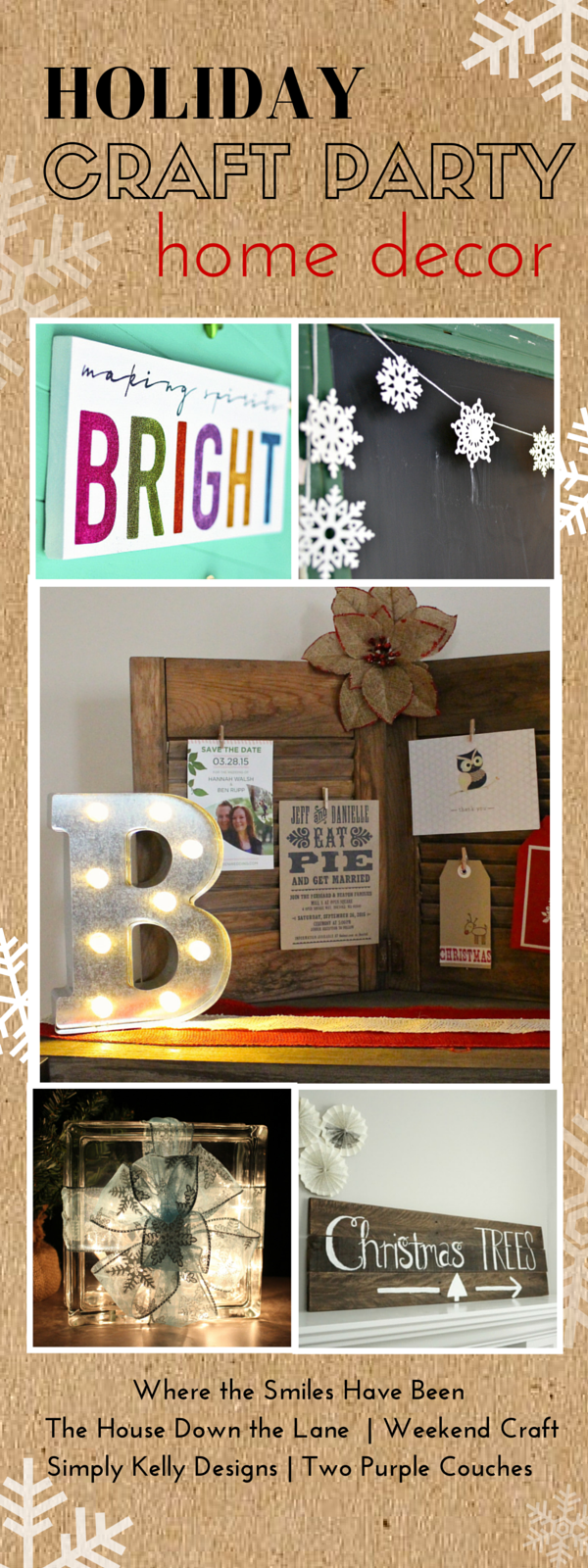 Beautiful DIY holiday home decor ideas! These would make great gifts, too! Join us for our Holiday Craft Part - a week full of holiday crafts, creative ideas and inspiration!