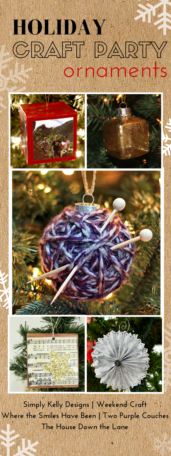 Beautiful handmade ornament ideas! Join us for our Holiday Craft Part - a week full of holiday crafts, creative ideas and inspiration!