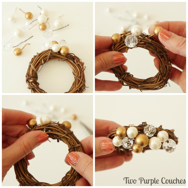 DIY your own set of mini grapevine wreath napkin rings