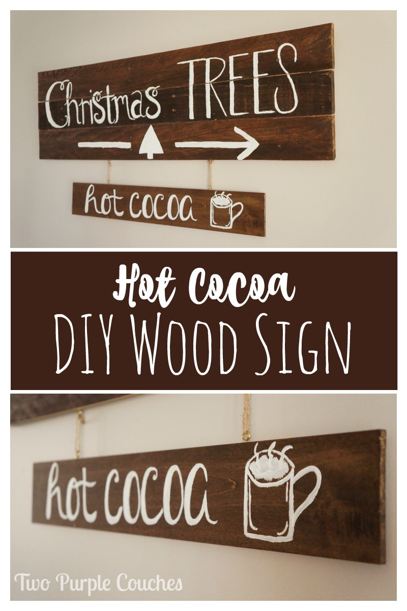 Dress up your walls or hot chocolate bar with this easy DIY hot cocoa sign!