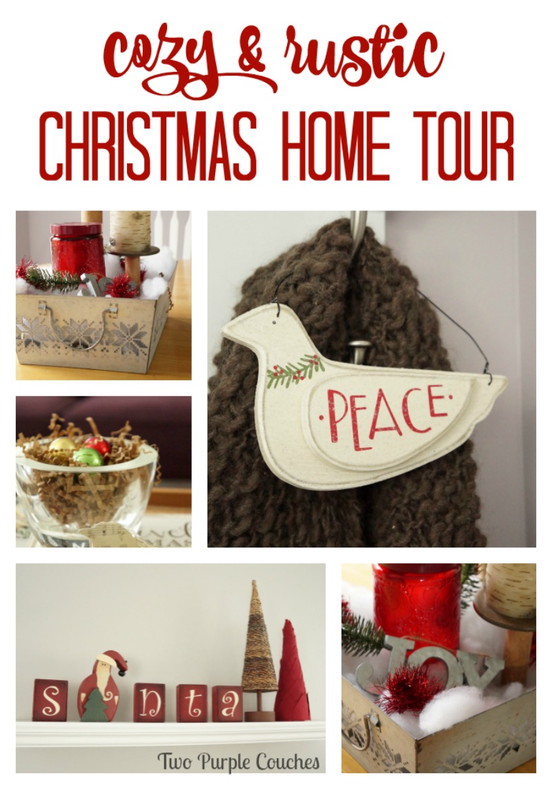 Cozy up and enjoy the simplicity of this rustic Christmas Home Tour