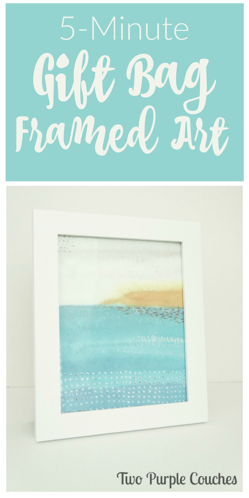 Make gorgeous artwork in minutes (and for next to nothing!) by framing pretty shopping bags!