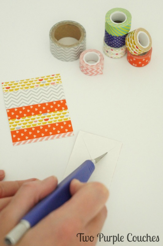 Mark your place in your favorite book with these easy washi tape bookmarks.