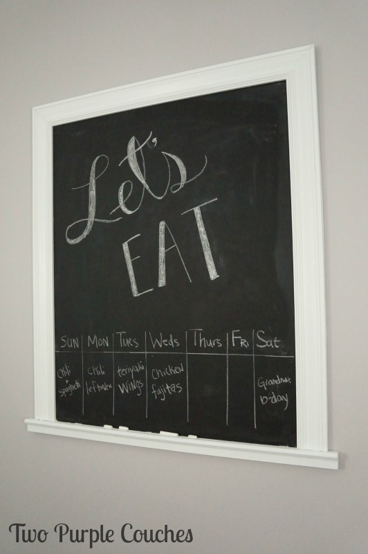 Easy step-by-step tutorial for how to build a chalkboard to hang on a wall. Great idea for kitchens!