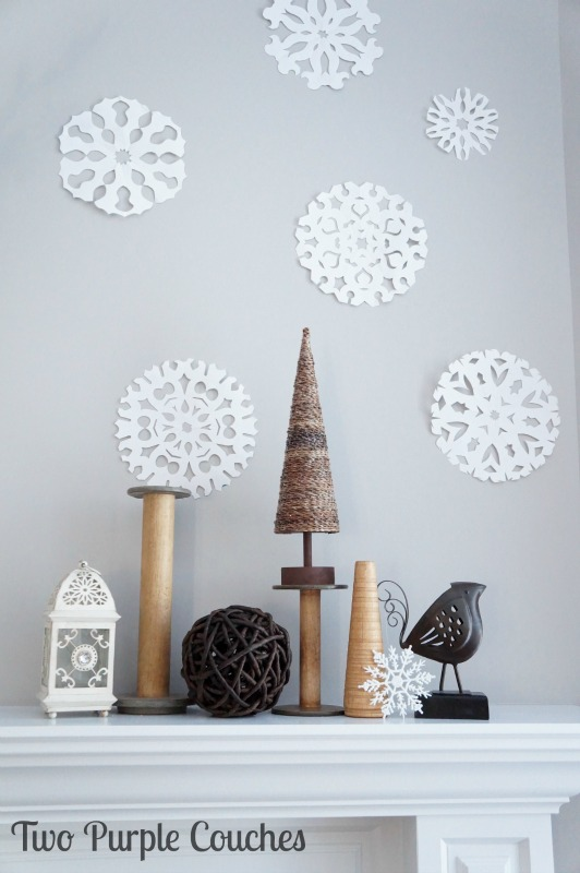 Love this neutral decor idea for the winter season!