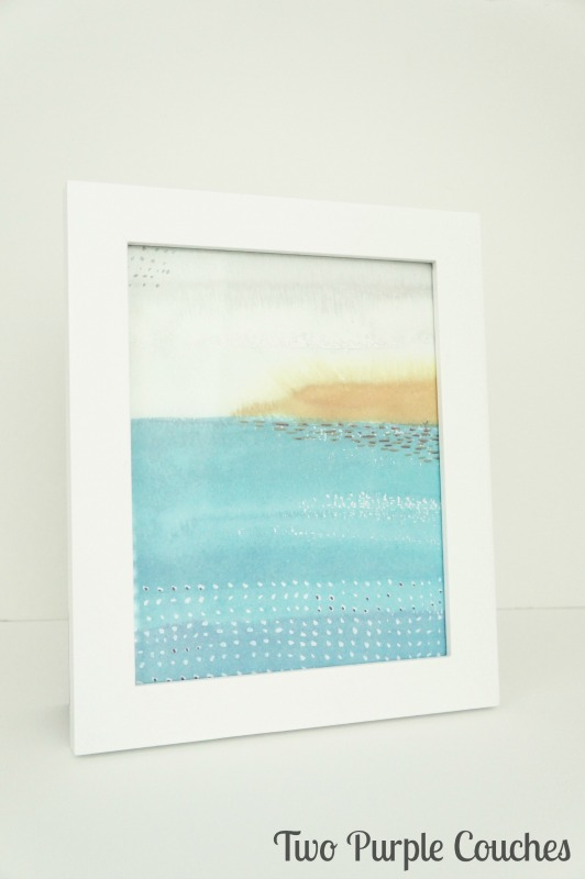 Have some pretty gift bags or shopping bags? Save them and make this super simple gift bag framed art in minutes!