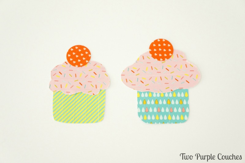 Too cute - cupcakes made using washi tape!