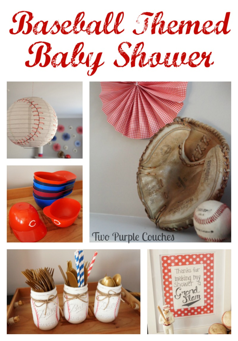 Absolutely adorable baseball themed baby shower - see all the details here from baseball themed decorations to the perfect ball park inspired party menu!