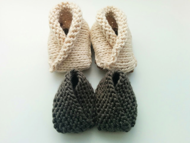 Crossover Baby Booties variations
