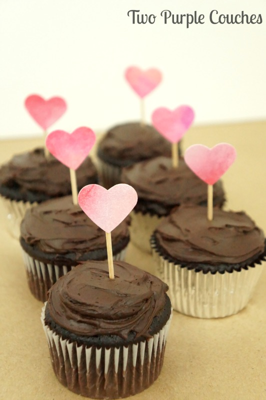 Make these pretty Valentine's Cupcake Toppers in minutes!